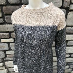 Wool/Alpaca Blend Cable Knit Sweater EUC sz M